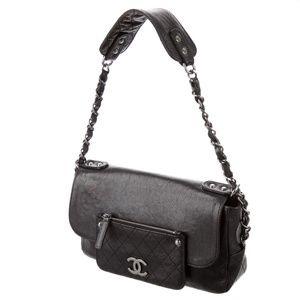 Chanel Flap Bag - Black Leather